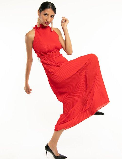 Vestito Fracomina con fascia centrale - Red