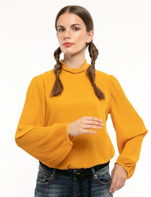 Camicia Fracomina con maniche plissé - Giallo