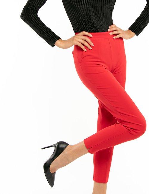 Pantalone Fracomina tinta unita - Rosso
