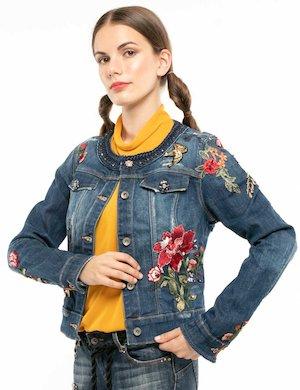 Giacca Fracomina in jeans con decorazioni