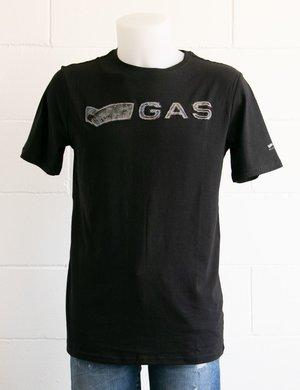 T-shirt Gas con logo applicato