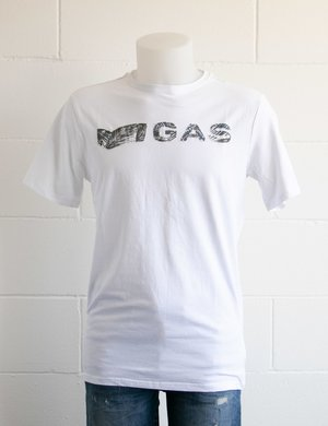 T-shirt Gas con logo applicato