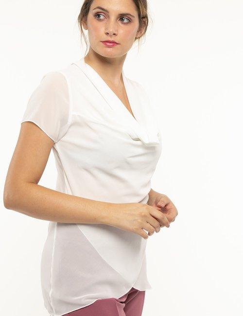 T-shirt Vougue scollo ampio - Bianco