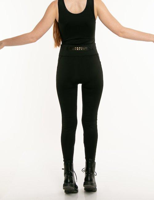 Pantalone Imperfect elasticizzato - Nero