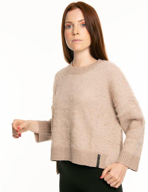 Maglione Imperfect effetto brillantinato - Beige