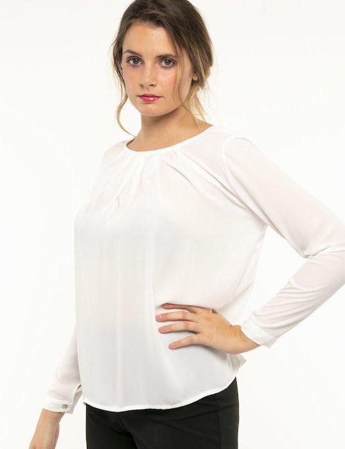 Camicia Vougue a maniche lunghe - Bianco