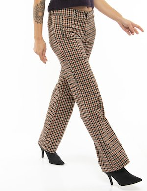 Pantalone Vougue a quadretti taglio regolare