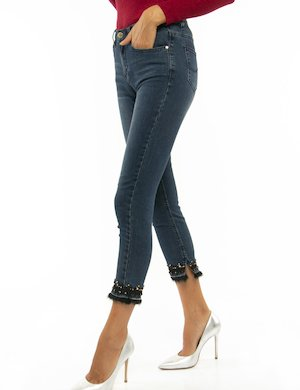 Jeans Yes Zee con orlo decorato