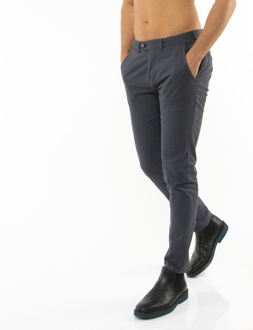 Pantalone Yes Zee slim fit - Grigio
