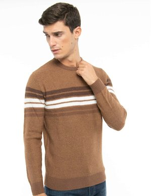 Maglione Smiling London a trama larga