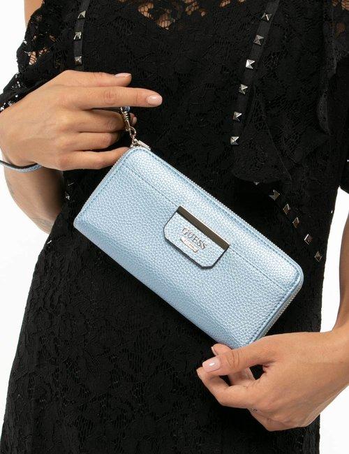 Portafoglio Guess con logo applicato - Azzurro