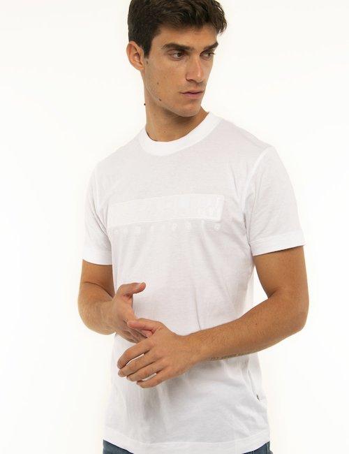 T-shirt Napapijri con logo ricamato - Bianco