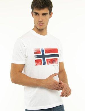 T-shirt Napapijri con bandiera norvegese