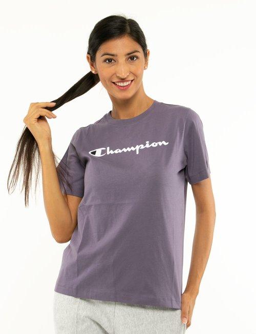 T-shirt Champion con logo in rilievo - Viola