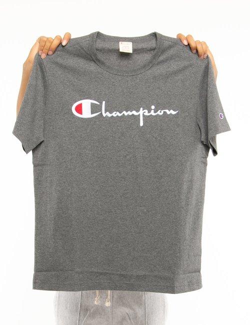 T-shirt Champion con logo ricamato - Grigio