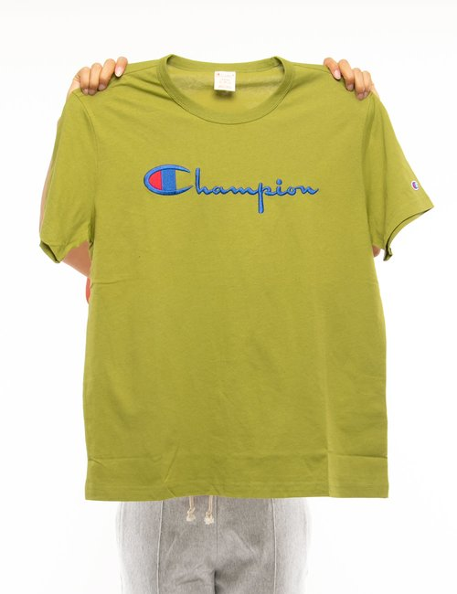 T-shirt Champion con logo ricamato - Verde