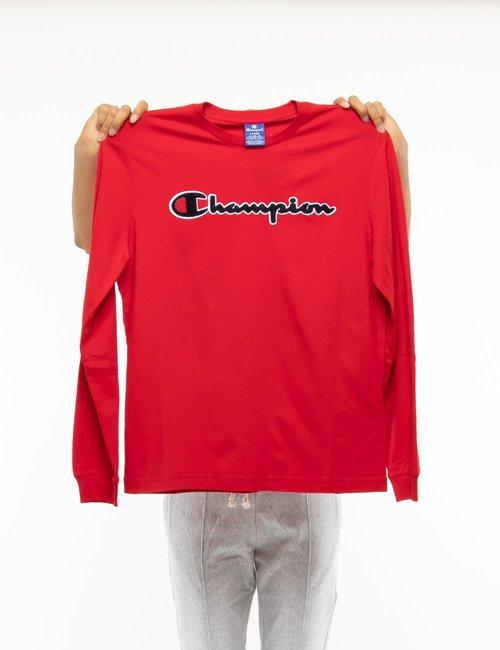 Maglia Champion con logo in rilievo - Rosso