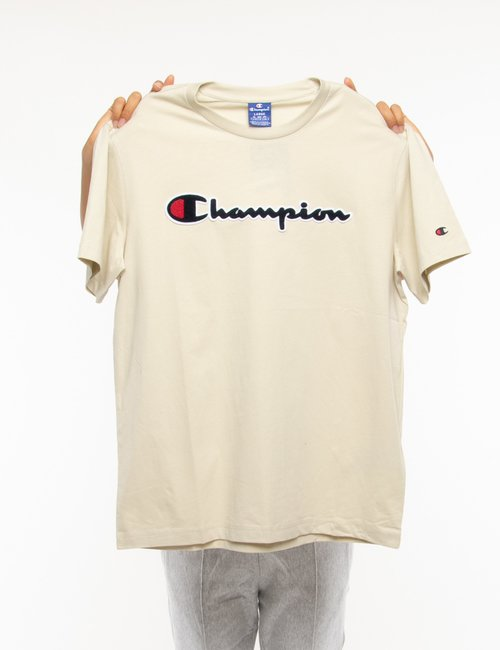 T-shirt Champion con logo in rilievo - Avorio