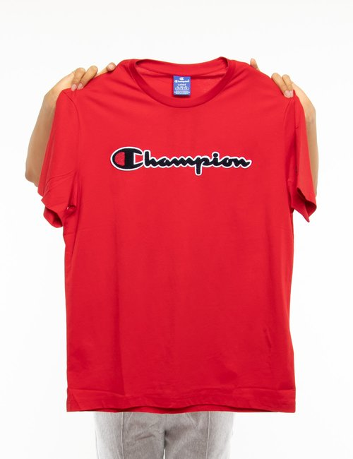 T-shirt Champion con logo in rilievo - Rosso