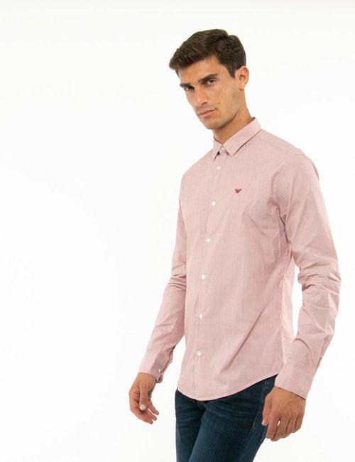 Camicia Emporio Armani slim fit - Bordeaux