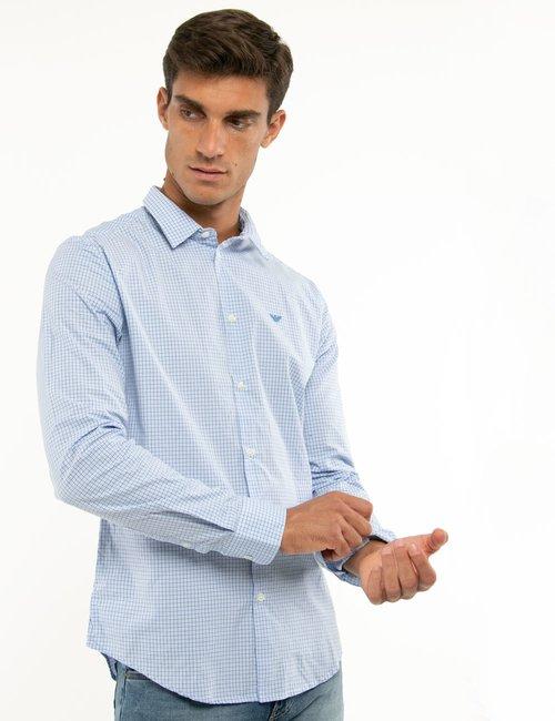 Camicia Emporio Armani slim fit - Azzurro