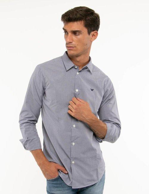 Camicia Emporio Armani slim fit - Blu