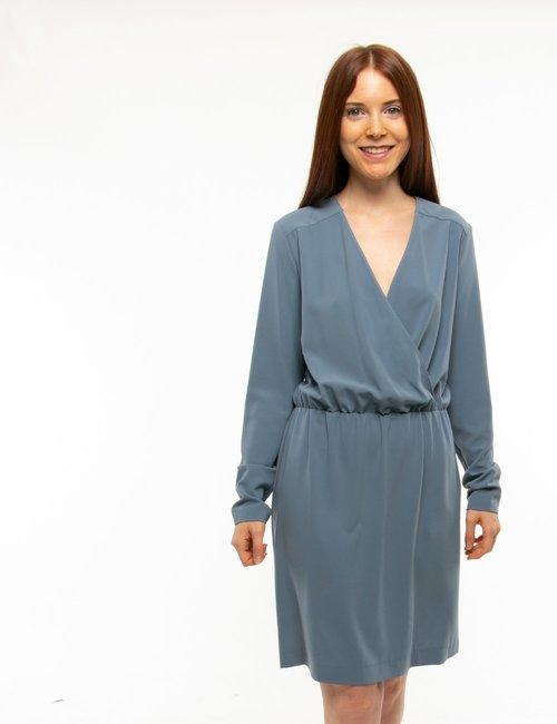 Vestito Manila Grace arricciato in vita - Azzurro