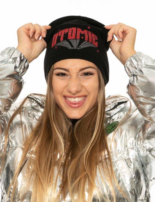 Cappello Chiara Ferragni scritta glitterata - Nero