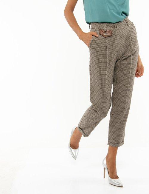 Pantalone Fracomina quadrettato - Marrone