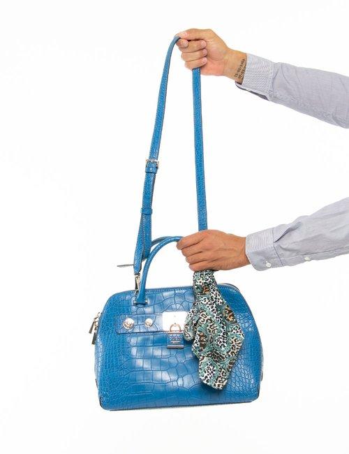 Borsa Guess con foulard - Blu