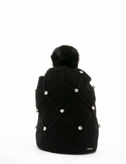 Cappello Imperfect con strass - Nero