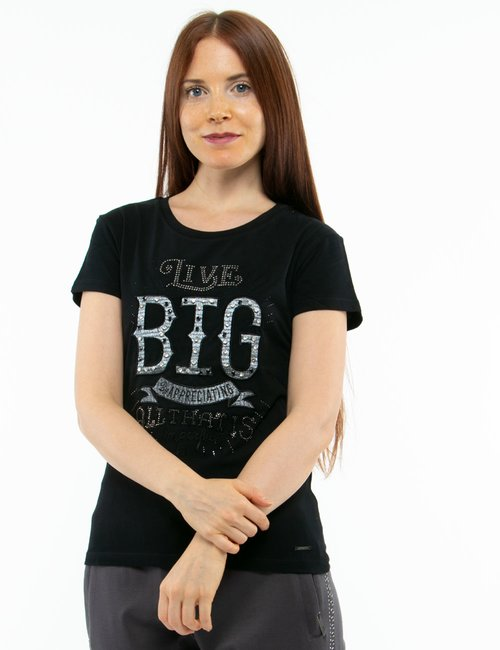 T-shirt Imperfect con ricamo - Nero