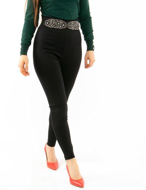 Pantalone Imperfect con cintura - Nero