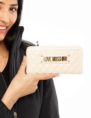 Portafoglio Love Moschino trapuntato con zip