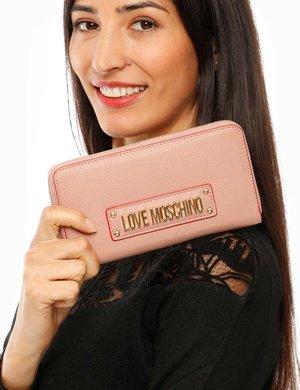 Portafoglio Love Moschino con logo in rilievo