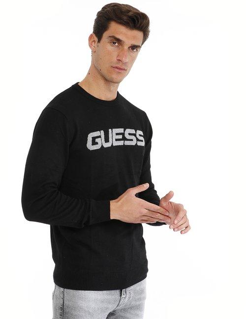 Maglione Guess con logo - Nero