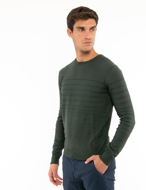 Maglione Yes Zee a righe - Verde