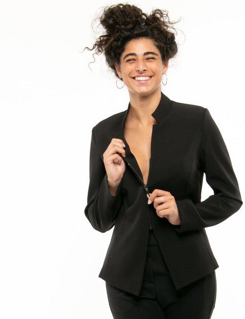 Giacca Vougue con zip - Nero