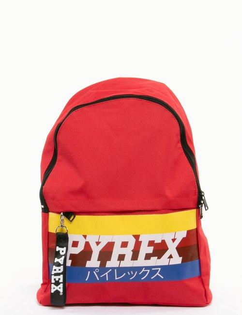 Zaino Pyrex logo rainbow - Rosso