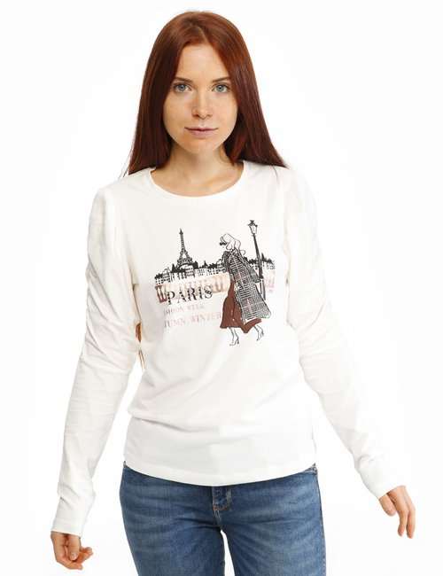 Maglia Yes Zee con stampa - Bianco