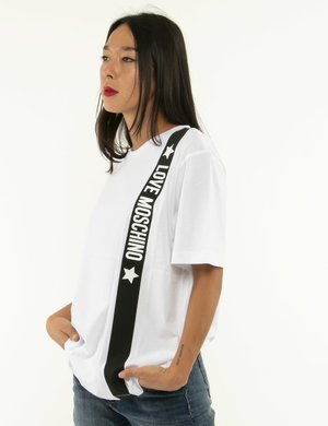 T-shirt Love Moschino in cotone
