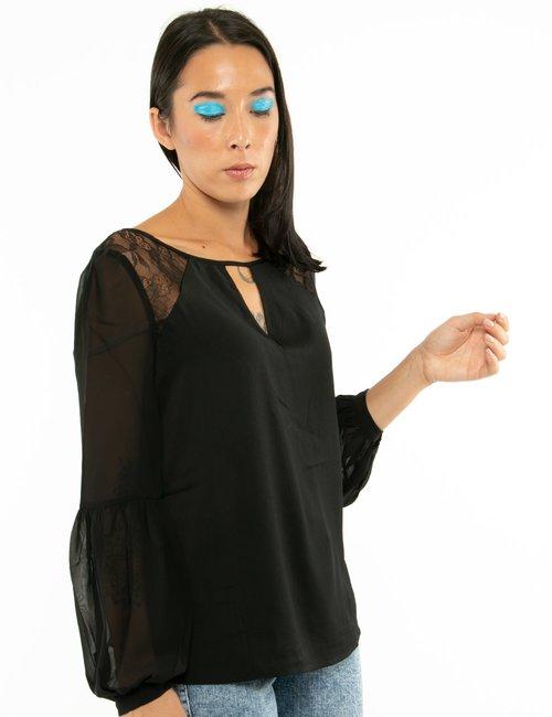 Camicia Guess con maniche velate - Nero
