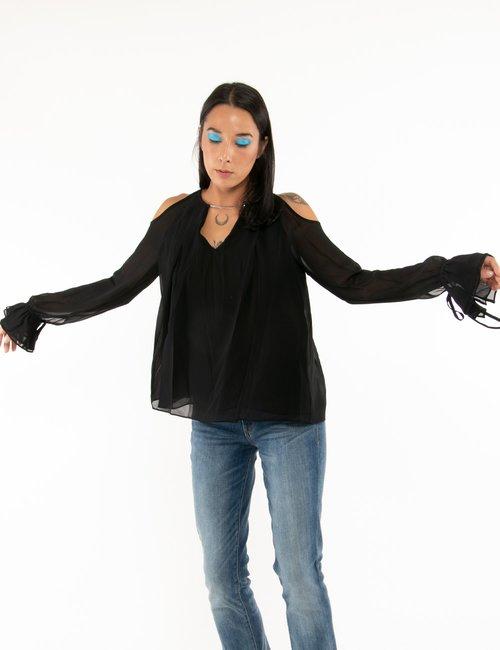 Camicia Guess con catenella - Nero