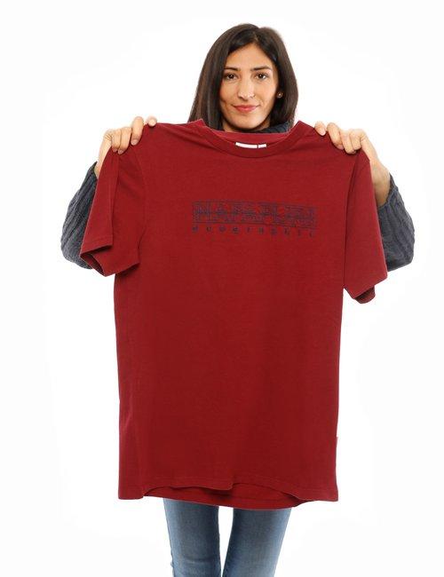 T-shirt Napapijri con logo ricamato - Bordeaux