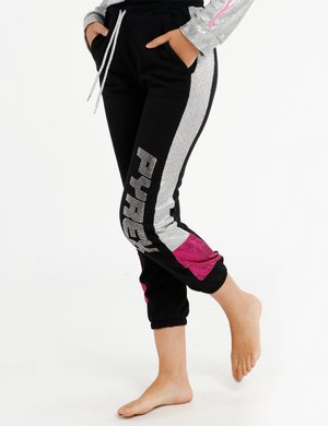 Pantalone Pyrex con logo in strass