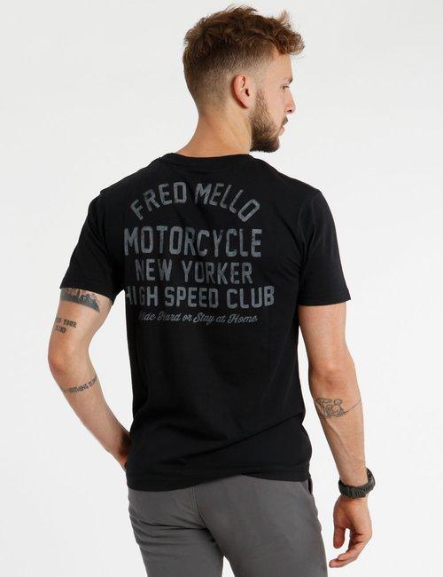 T-shirt Fred Mello scritta stampata - Nero