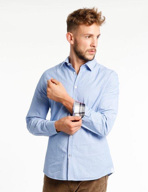 Camicia Fred Mello microfantasia - Blu
