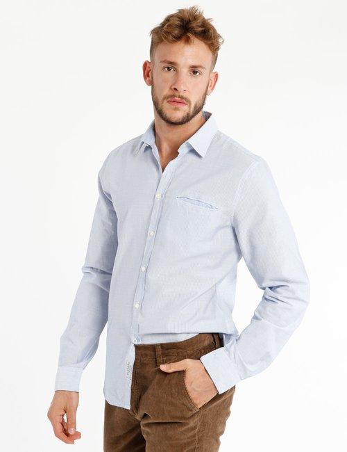 Camicia Fred Mello in cotone - Azzurro