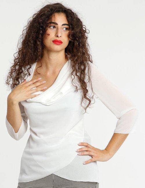 Camicia Vougue manica tre quarti - Bianco