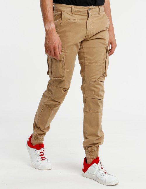 Pantalone Concept83 orlo elasticizzato - Beige